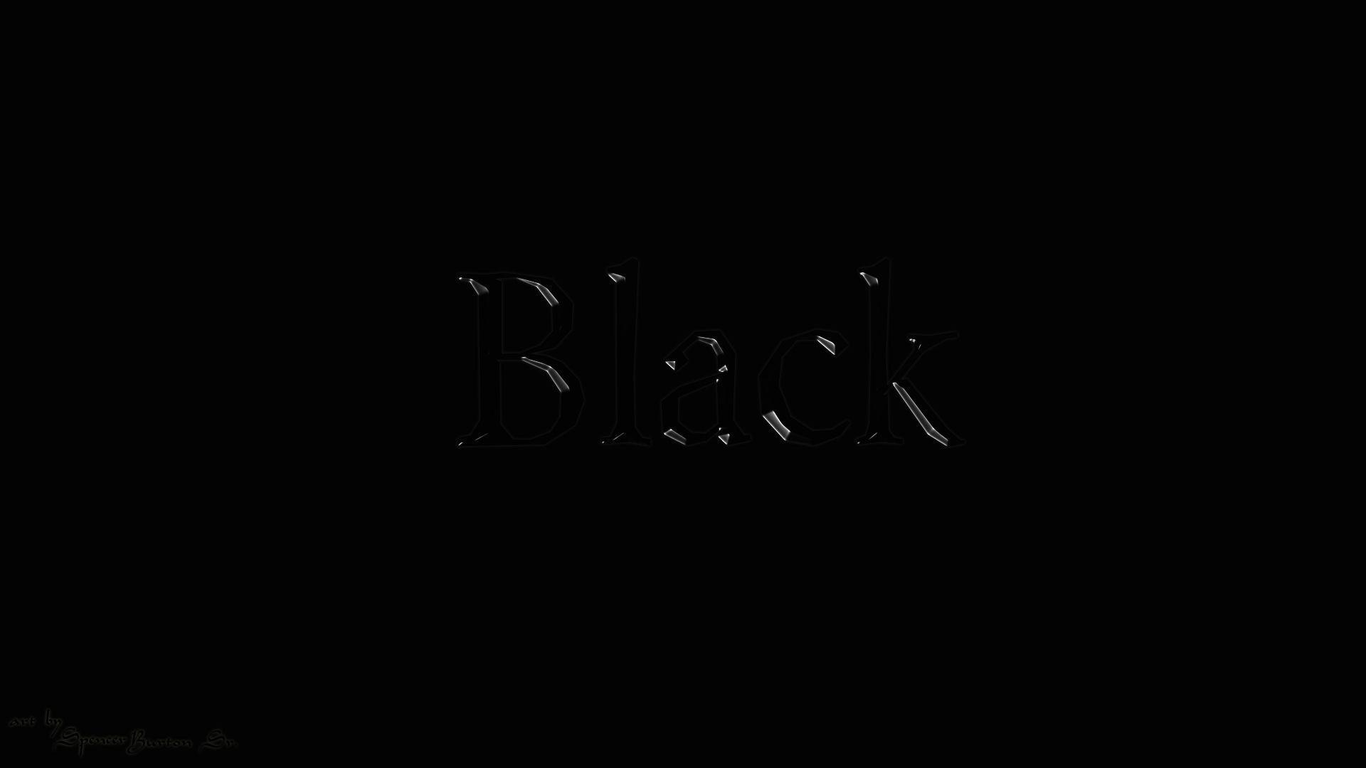 Hình nền đen chữ Black