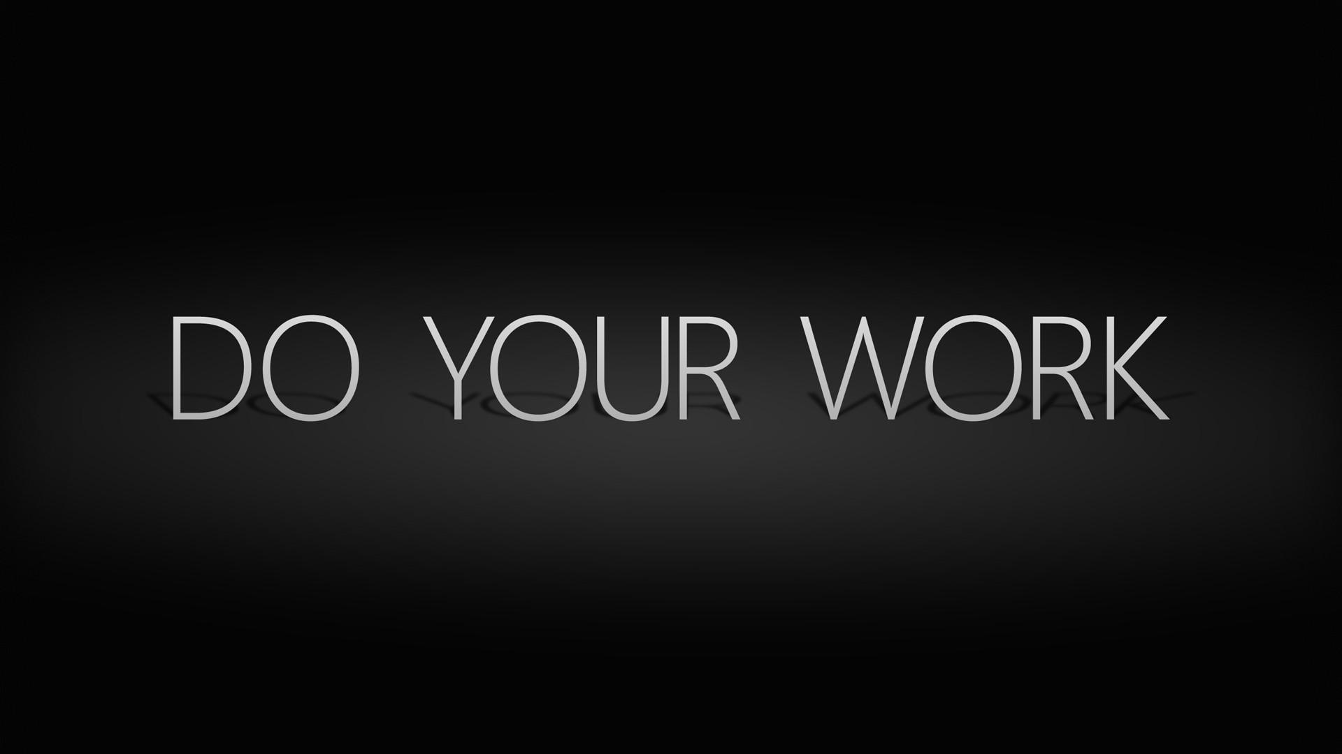 Hình nền đen Do your work