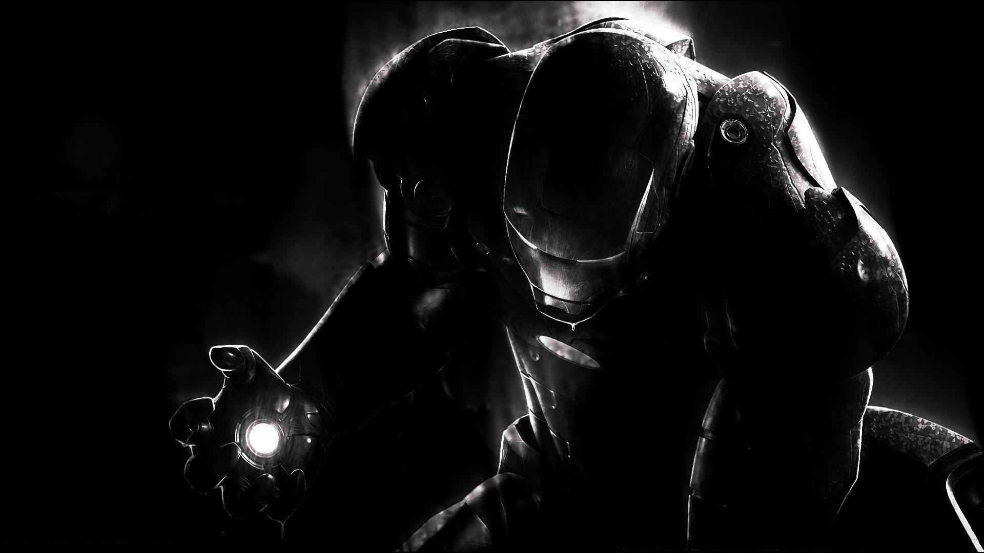 Hình nền đen Iron man cực đẹp