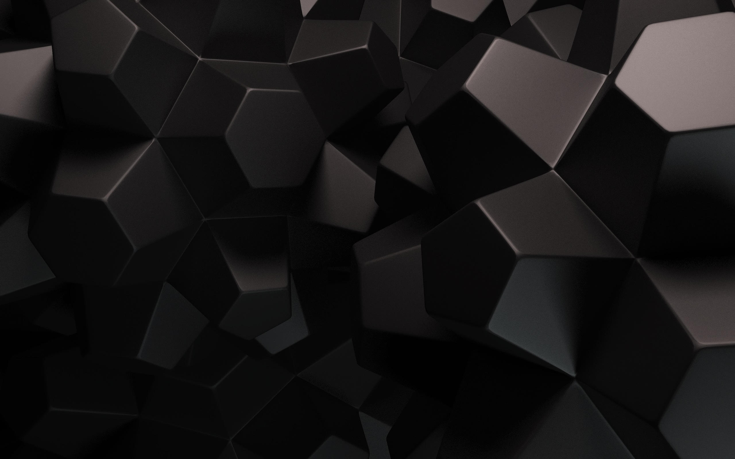 Hình nền đen khối nhiều mặt
