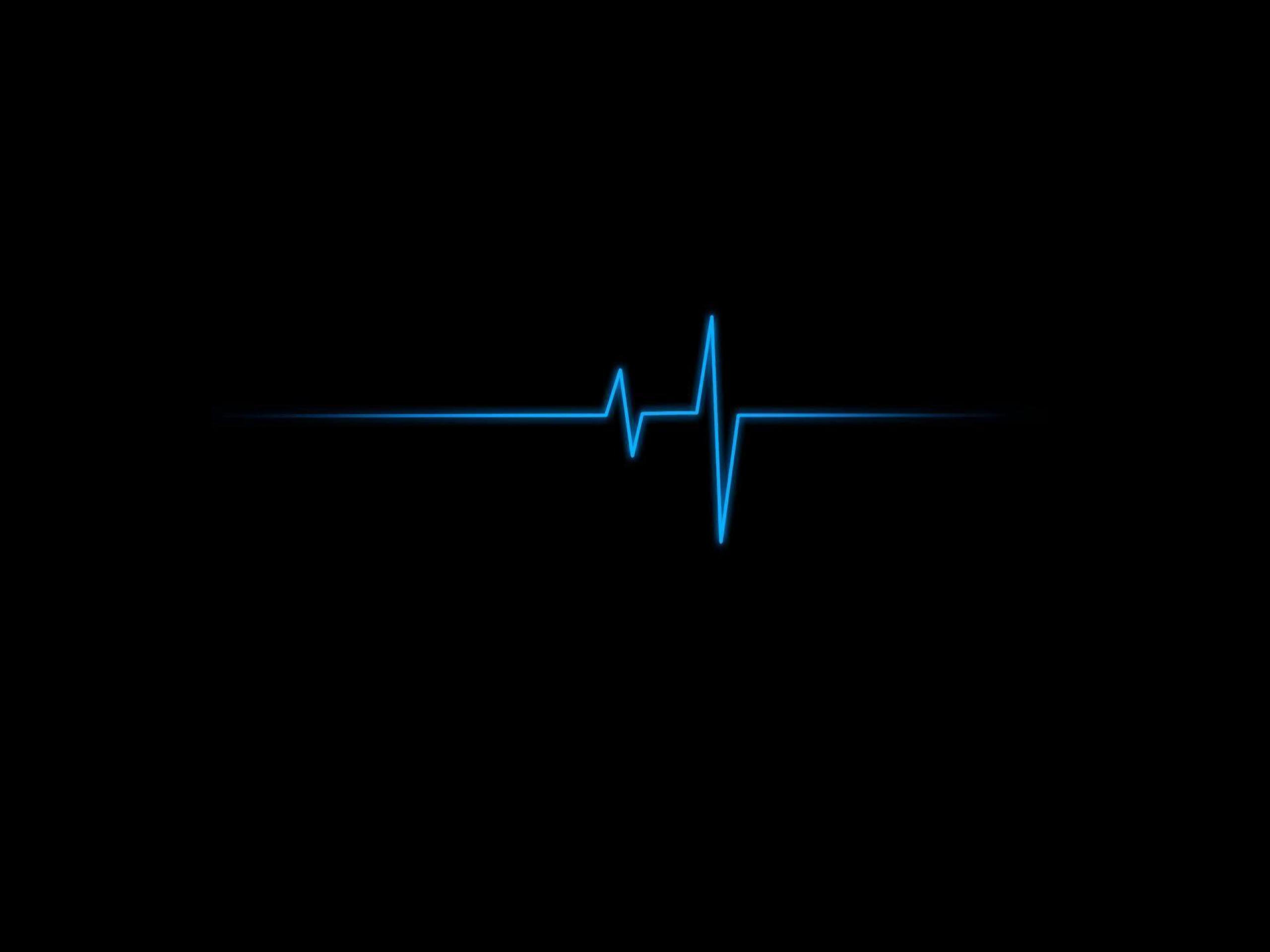 Hình nền đen nhịp đập xanh