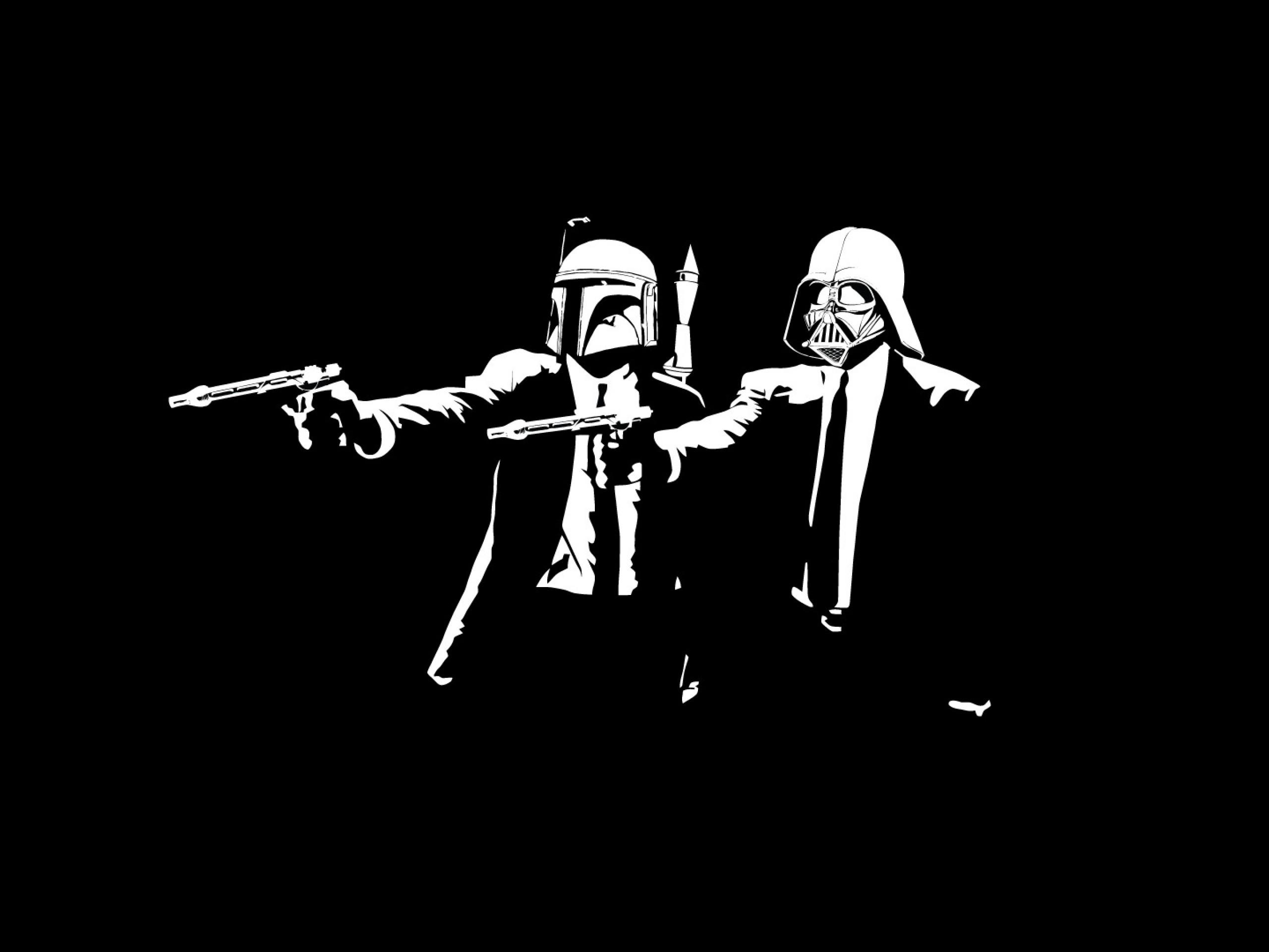 Hình nền đen trắng cho máy tính hai người giơ súng bắn