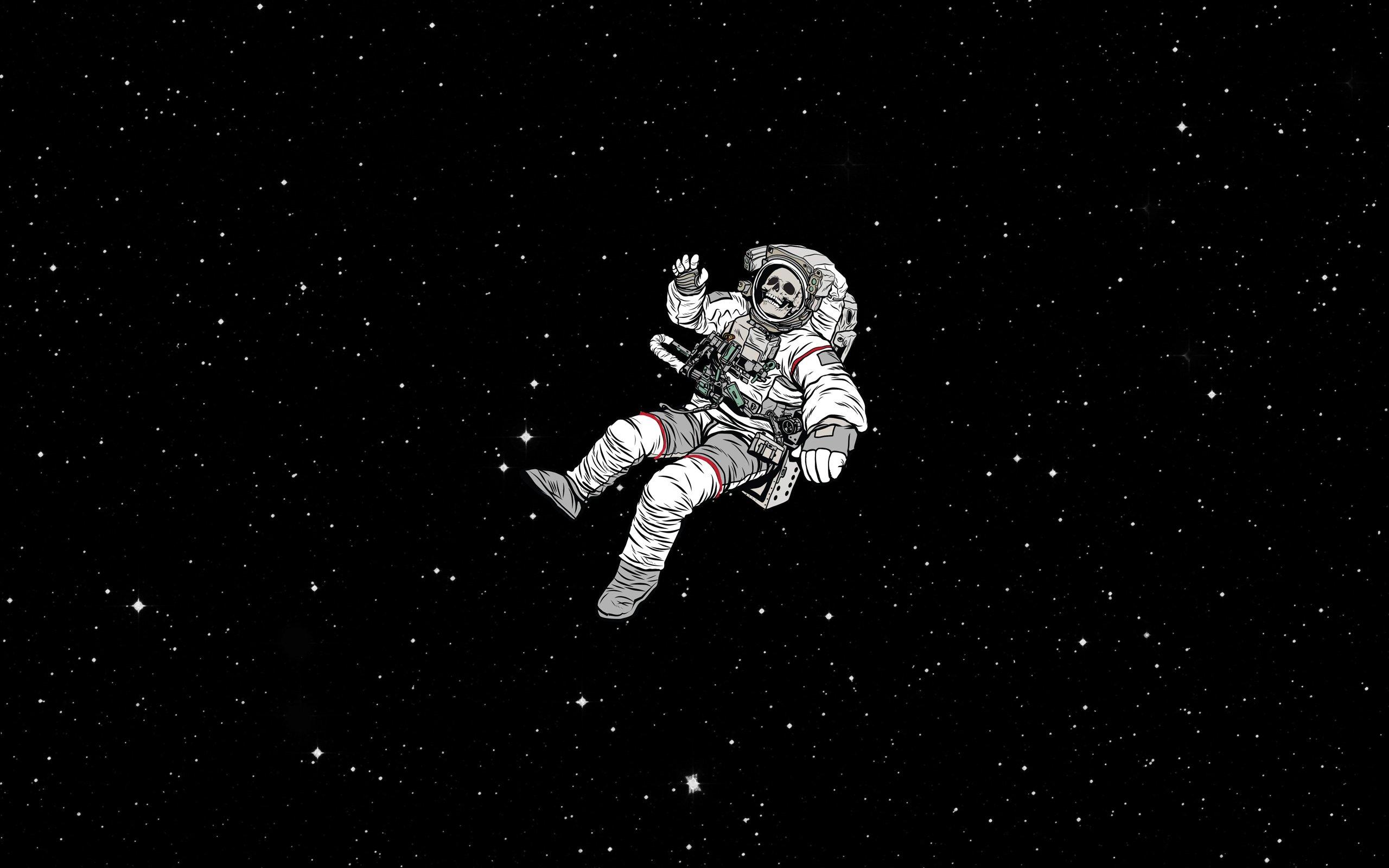 Hình nền đen trắng cho máy tính người ngoài không gian