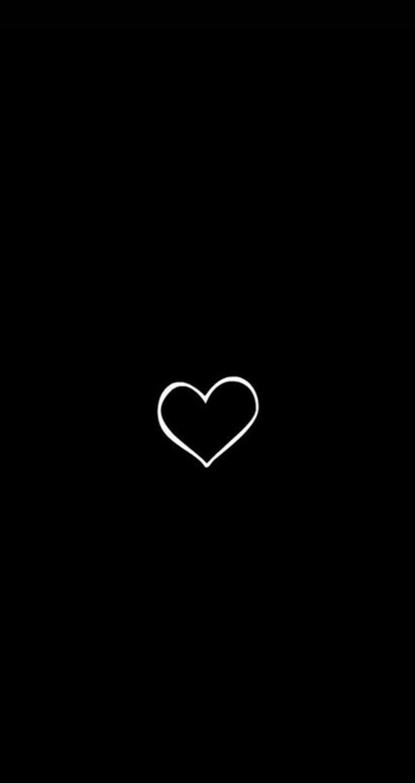 Hình nền đen trắng dành cho điện thoại cực kỳ đẹp hình trái tim