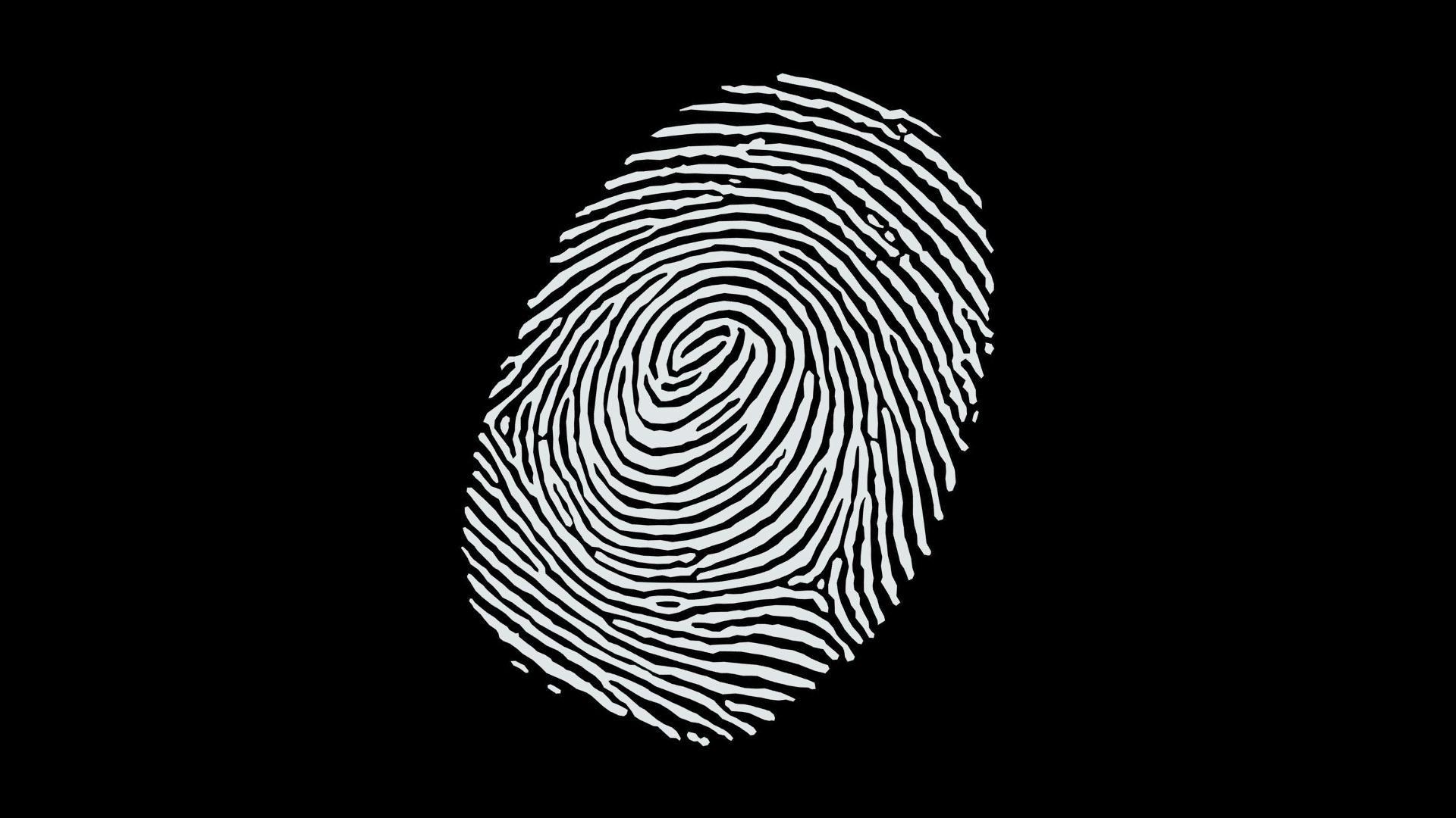 HÌnh nền đen trắng dấu vân tay cho máy tính