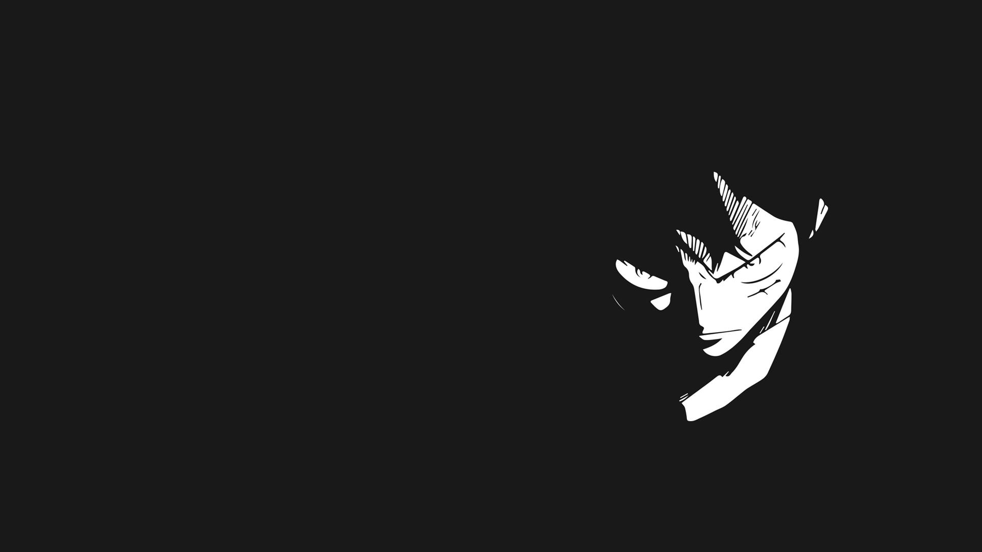 Hình nền đen trắng Luffy cực ngầu cho máy tính