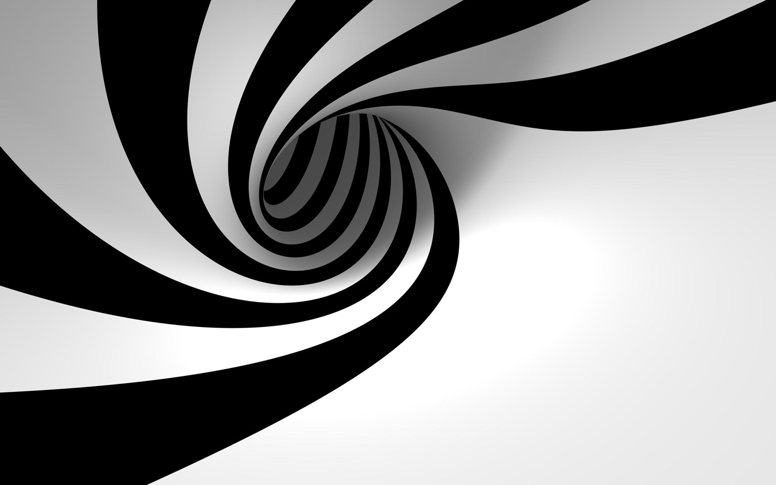 Hình nền đen trắng vòng xoắn nhị sắc