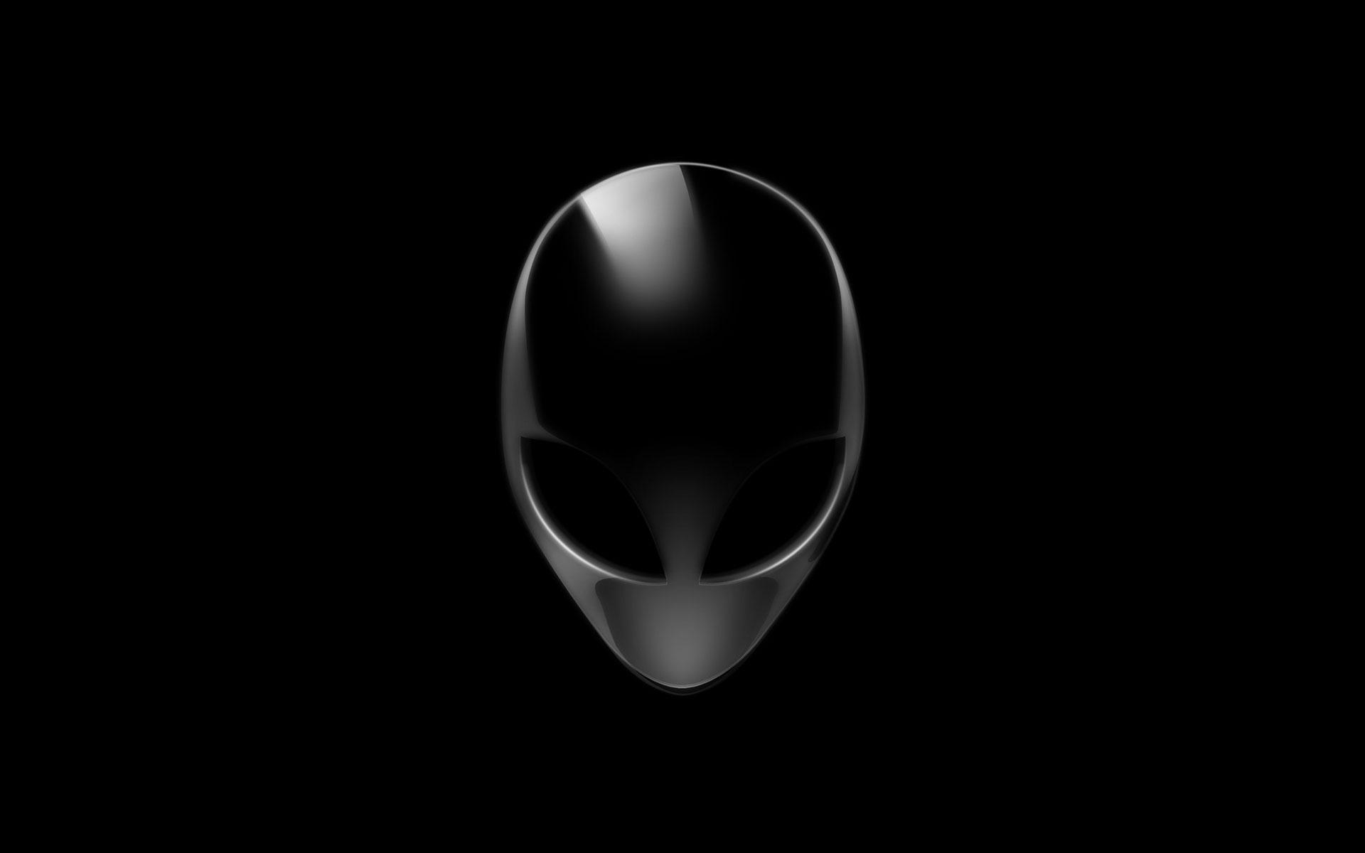 Hình nền máy tính đen trắng khuôn mặt người ngoài hành tinh