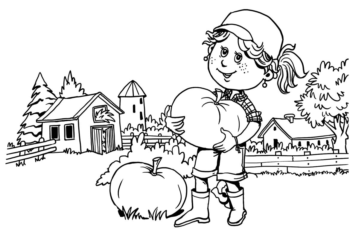 Tranh tô màu bác gái làm nông