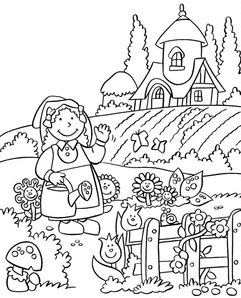 Tranh vẽ tô màu bác nông dân đẹp cho bé