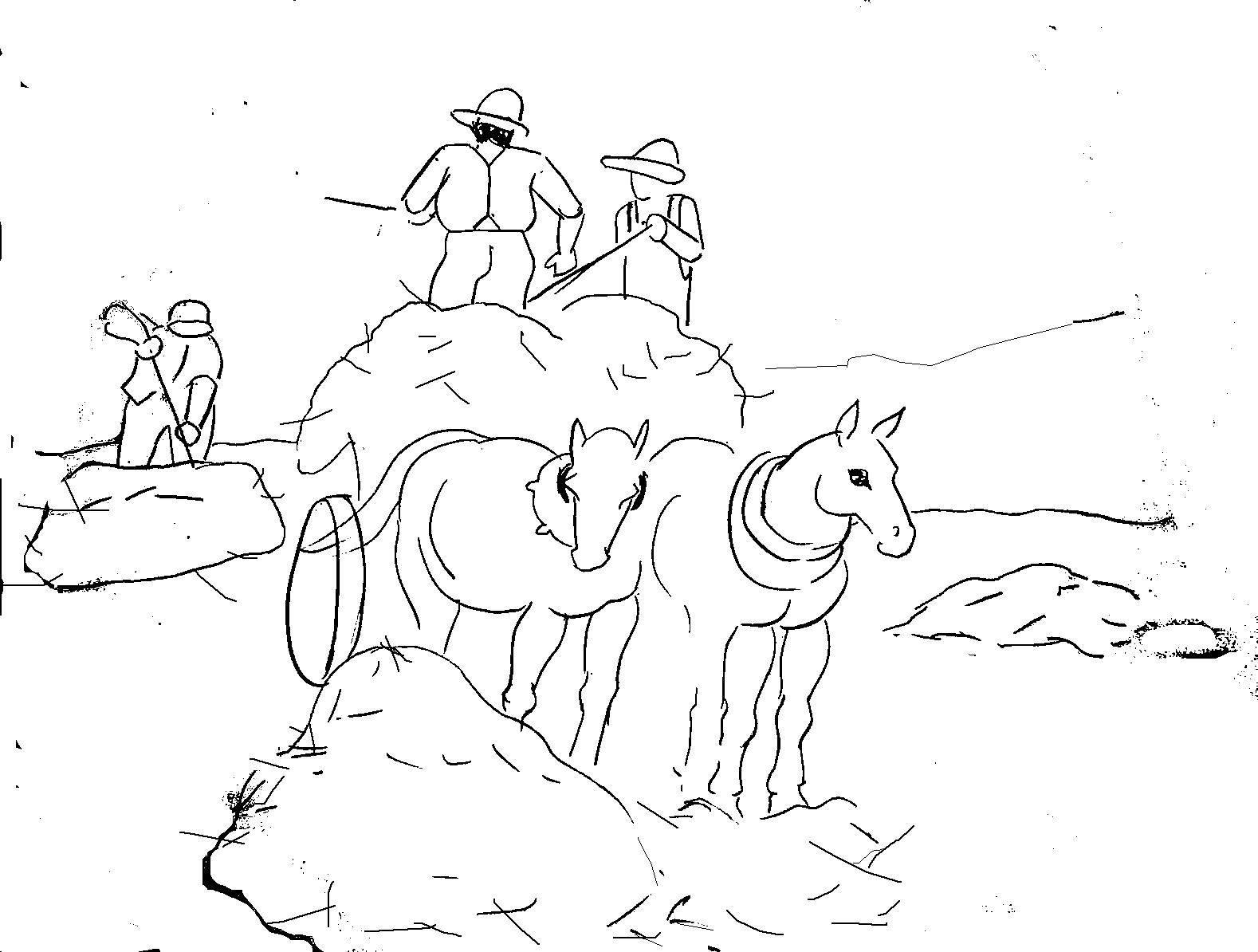 Tranh vẽ tô màu bác nông dân đẹp
