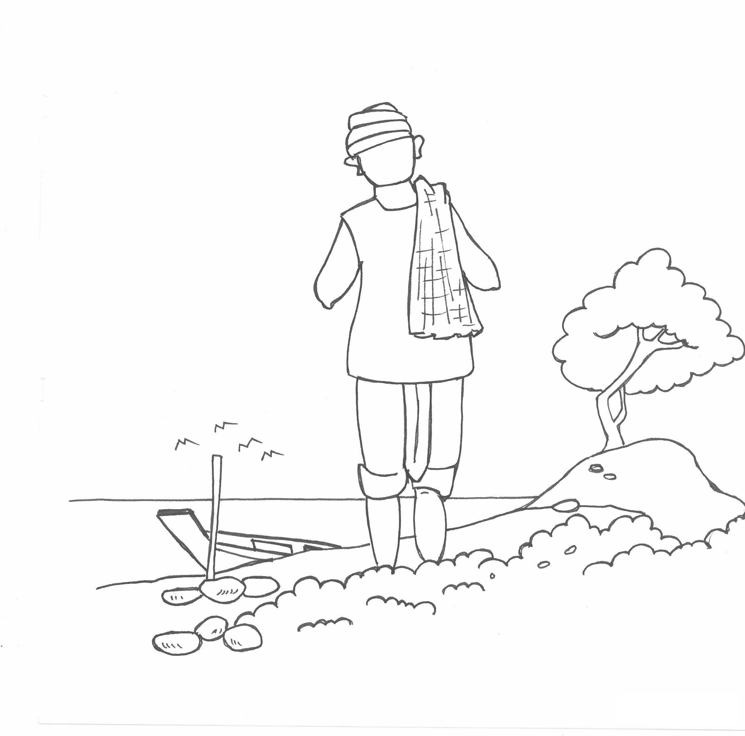 Tranh vẽ tô màu bác nông dân