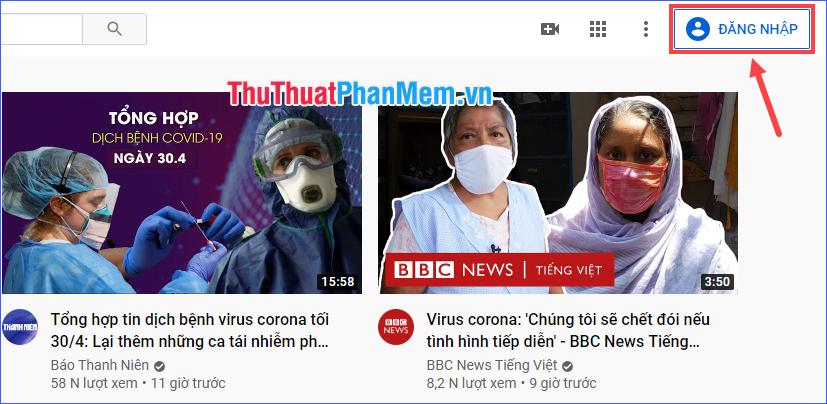 Đăng nhập vào tài khoản YouTube mà bạn đã dùng để xem video đó