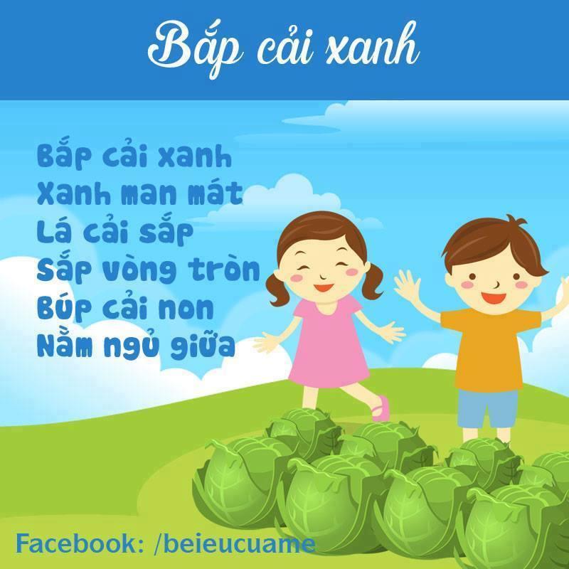 Hình ảnh bài thơ Bắp cải xanh