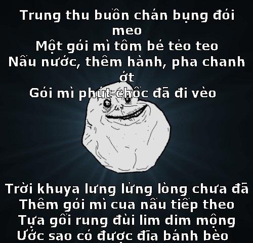 Hình ảnh bài thơ chế Trung thu buồn chán bụng đói meo