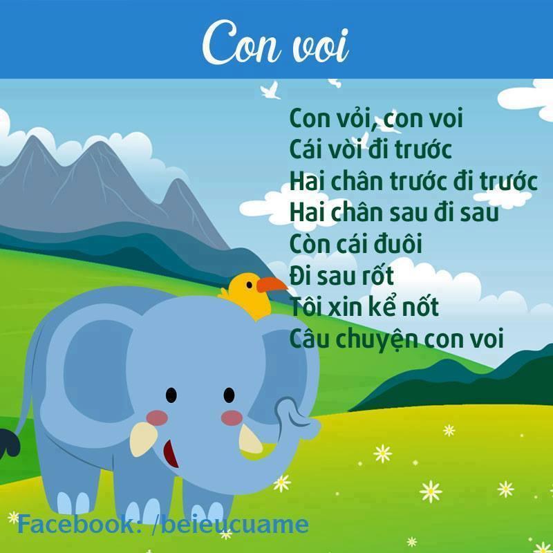 Hình ảnh bài thơ Con voi