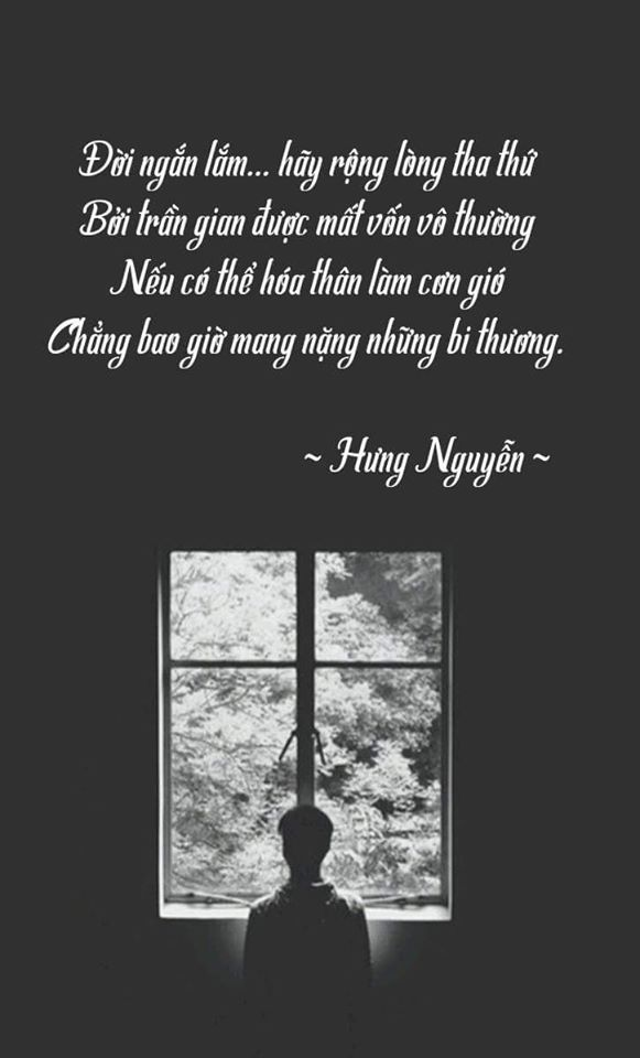 Hình ảnh bài thơ Đời ngắn lắm hãy rộng lòng tha thứ