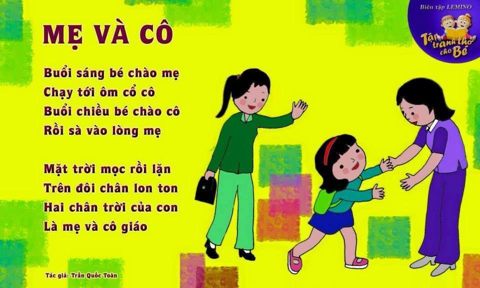 Hình ảnh bài thơ Mẹ và cô