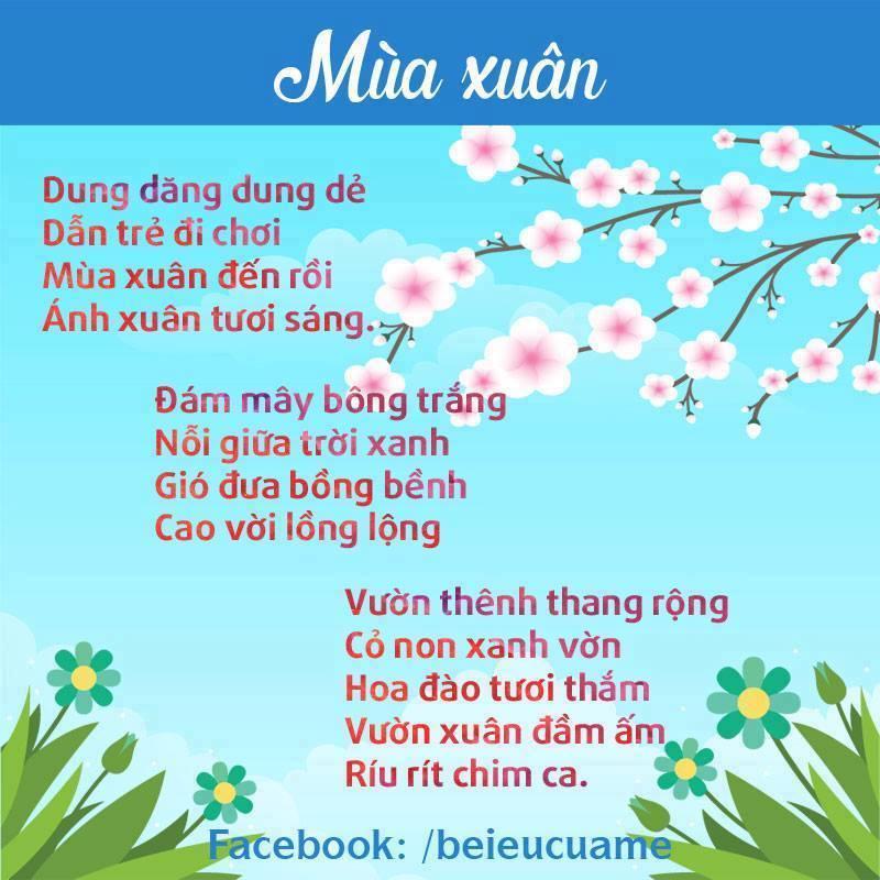 Hình ảnh bài thơ Mùa xuân