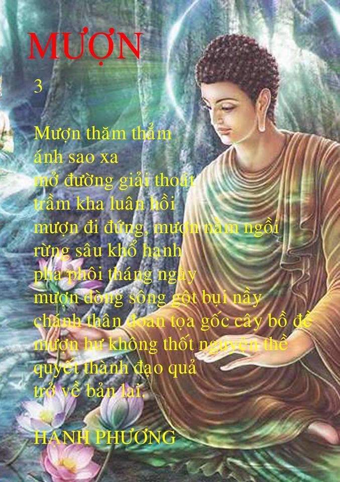 Hình ảnh bài thơ Mượn
