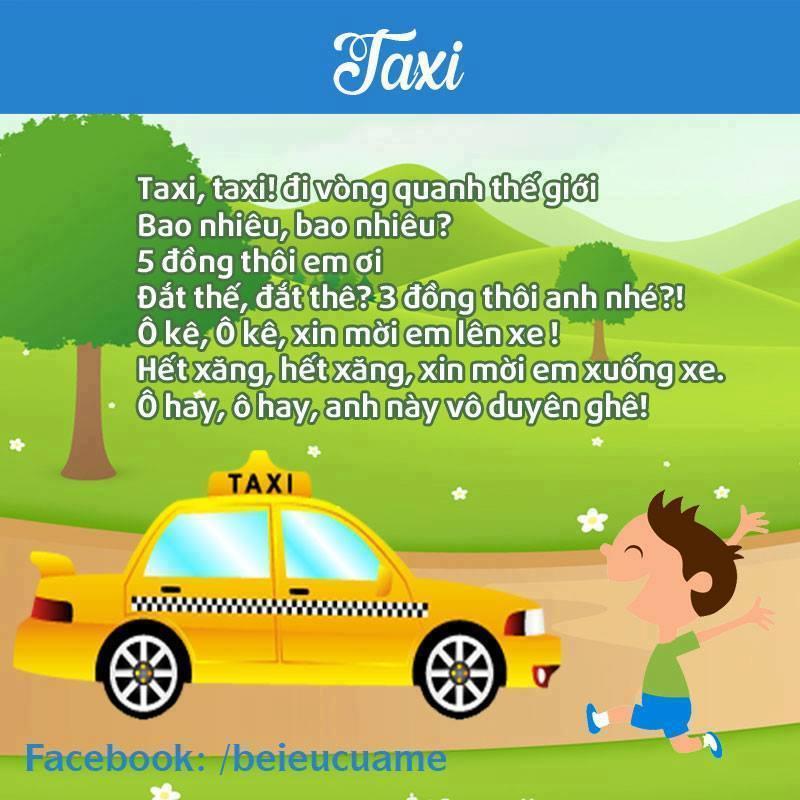 Hình ảnh bài thơ Taxi