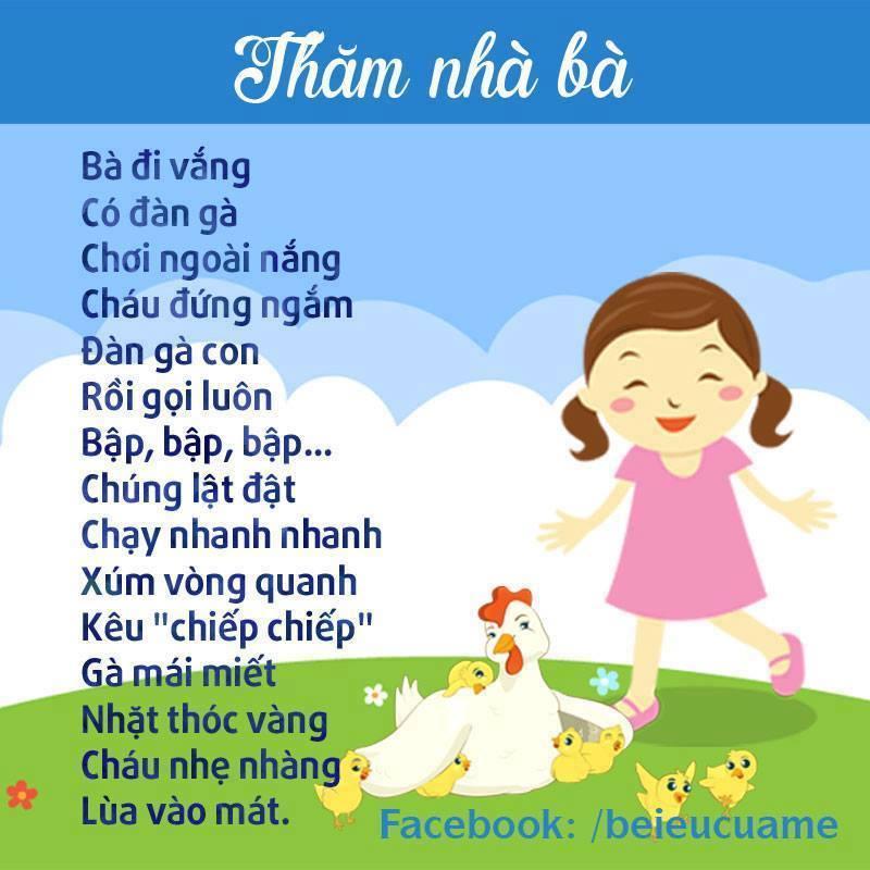 Hình ảnh bài thơ Thăm nhà bà