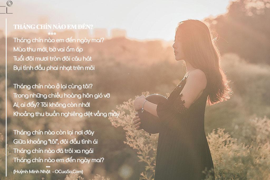 Hình ảnh bài thơ Tháng chín nào em đến
