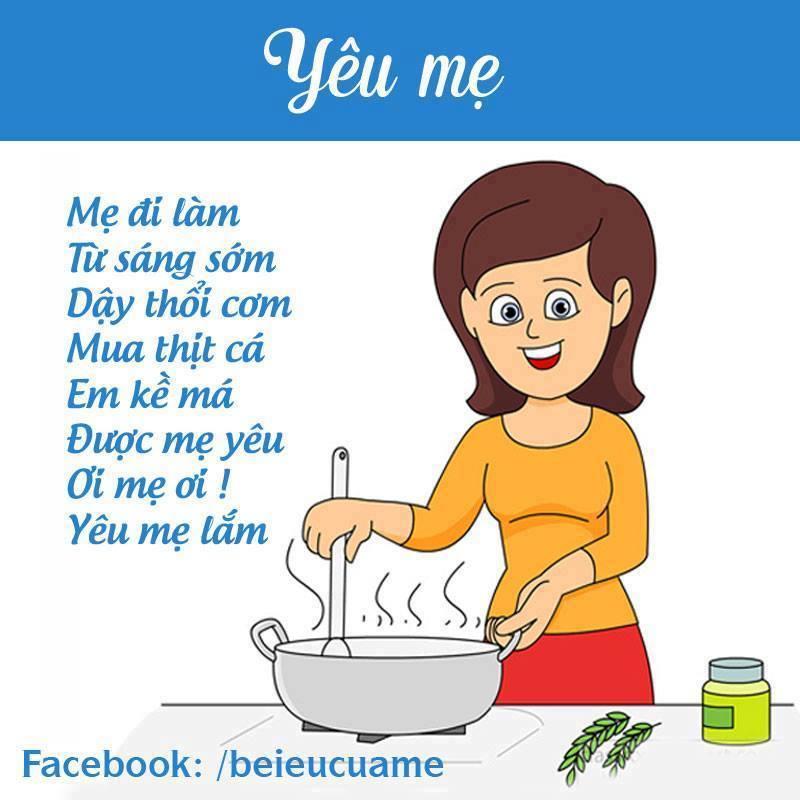 Hình ảnh bài thơ Yêu mẹ