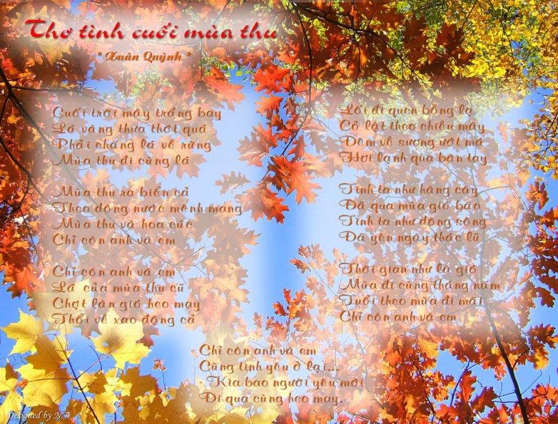 Hình ảnh THơ tình cuối mùa thu