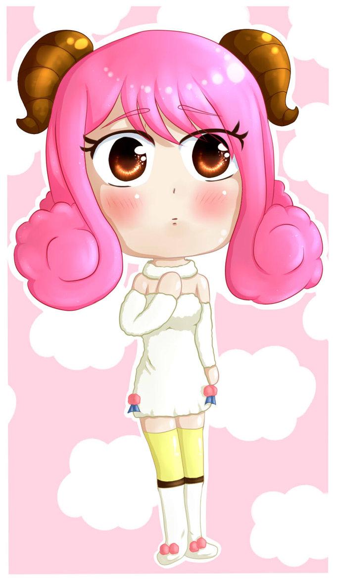 Hình ảnh cung Bạch Dương anime chibi