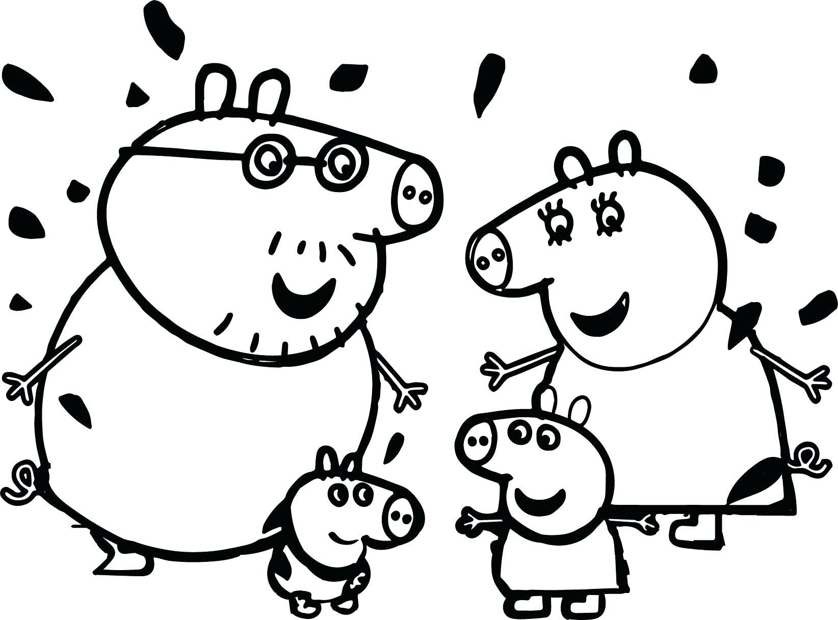 Hình ảnh gia đình lợn Peppa