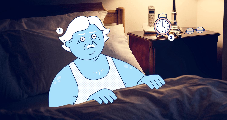 Hình vẽ mất ngủ ở người cao tuổi