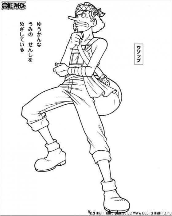 Tranh One Piece tô màu đẹp
