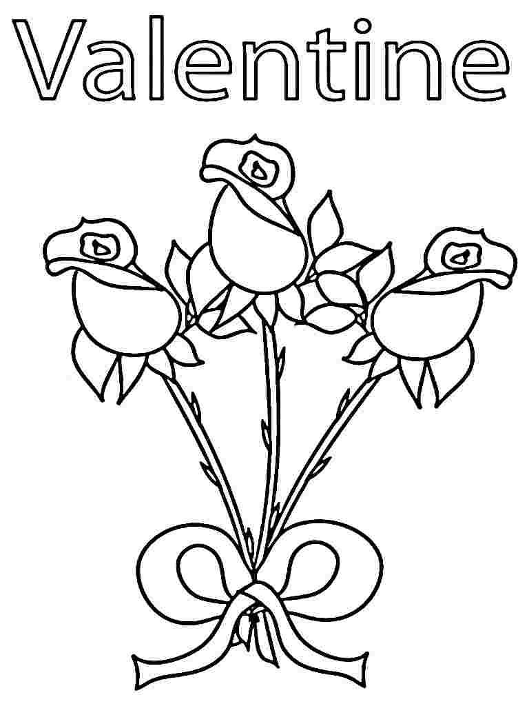 Tranh tô màu cây hoa hồng