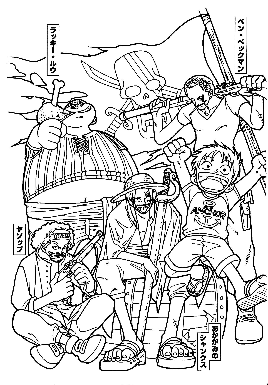 Tranh tô màu cho One Piece cực kỳ đẹp