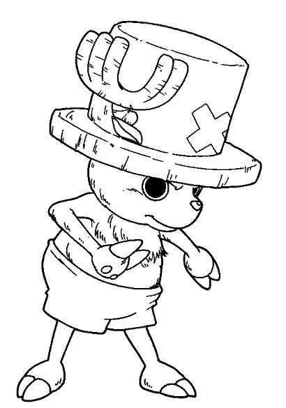 Tranh tô màu chú hươu bác sĩ trong One Piece
