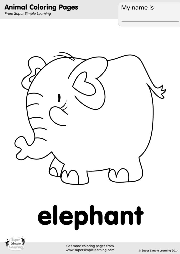 Tranh tô màu chú voi mập ú nu