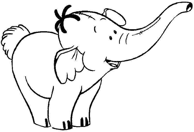 Tranh tô màu chú voi xanh
