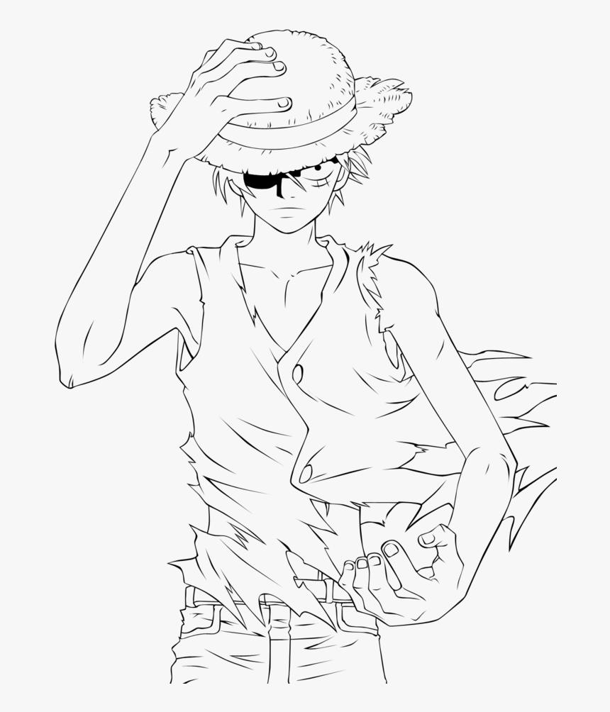 Tranh tô màu Luff One Piece cực ngầu
