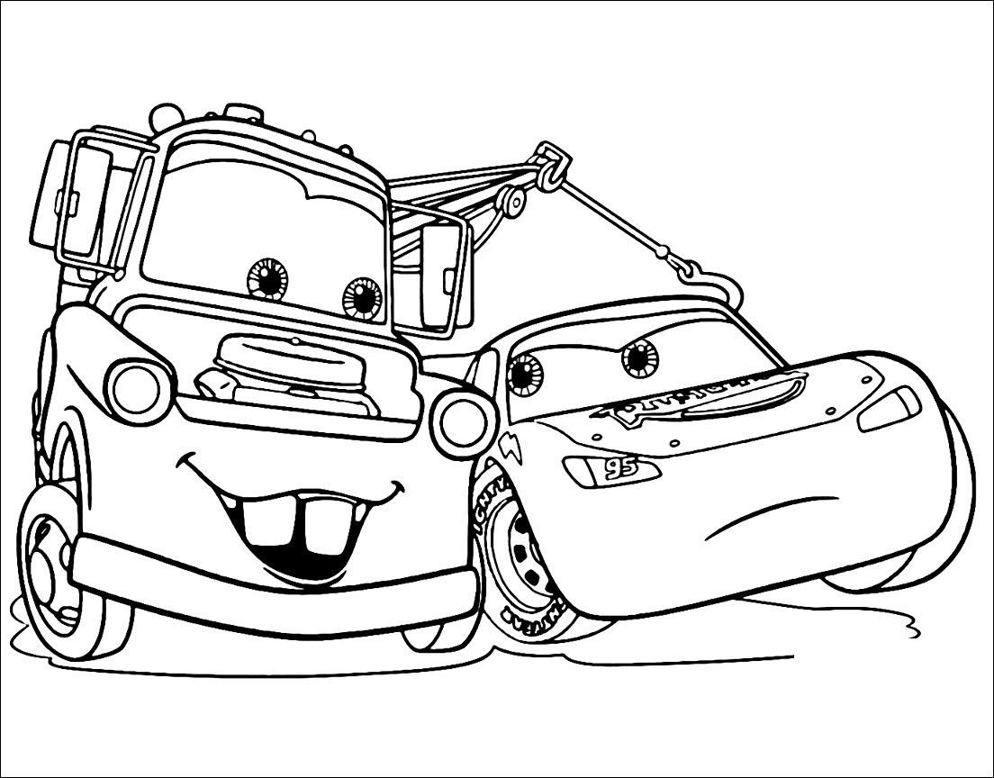 Tranh tô màu ô tô đơn giản cho bé cực đẹp