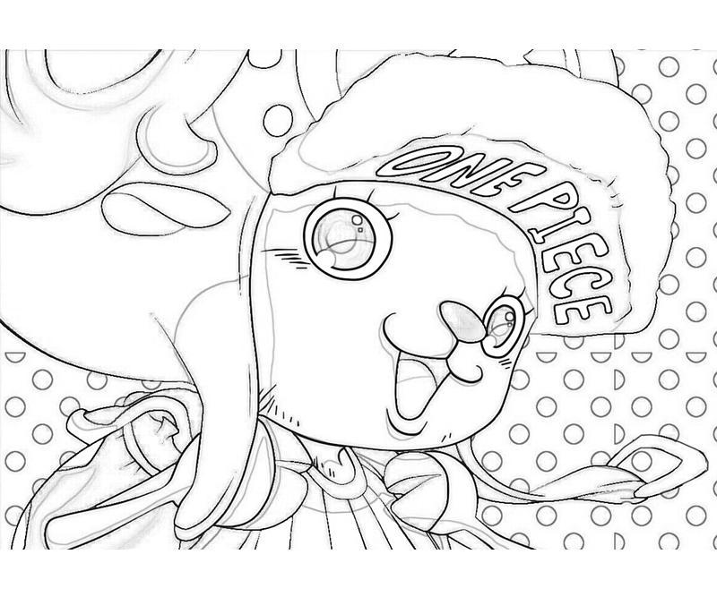 Tranh tô màu One Piece chú hươu đẹp