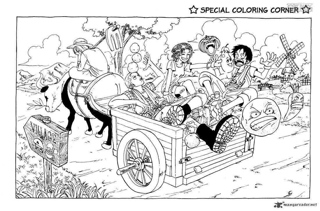Tranh tô màu One Piece cực kỳ đẹp