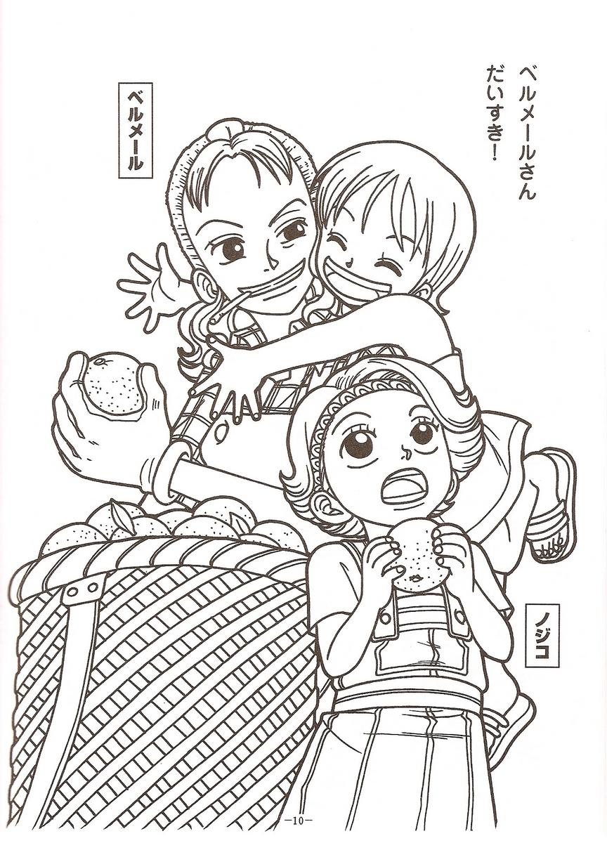 Tranh tô màu One Piece đẹp mắt
