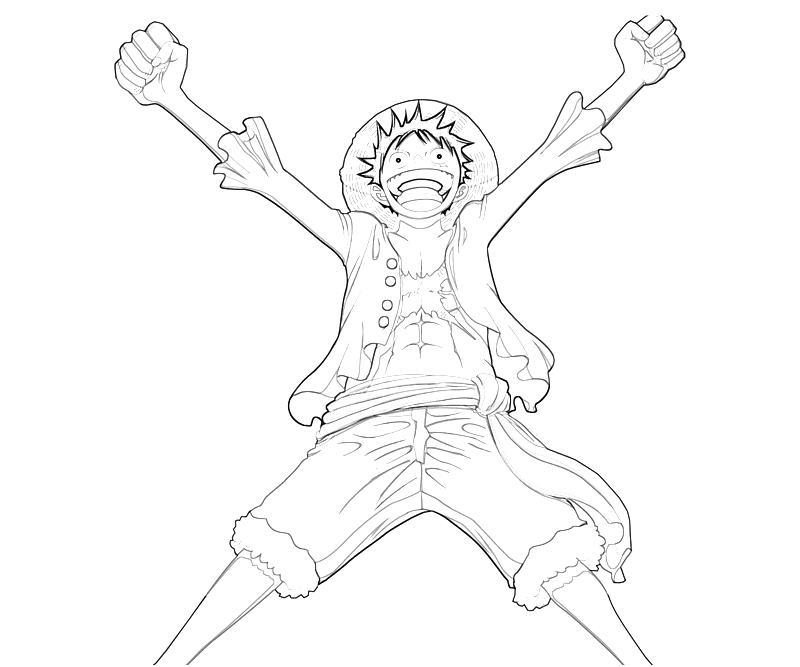 Tranh tô màu One Piece Luffy vươn vai chiến thắng