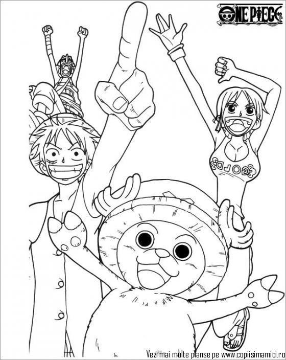 Tranh tô màu One Piece những người bạn của Luffy