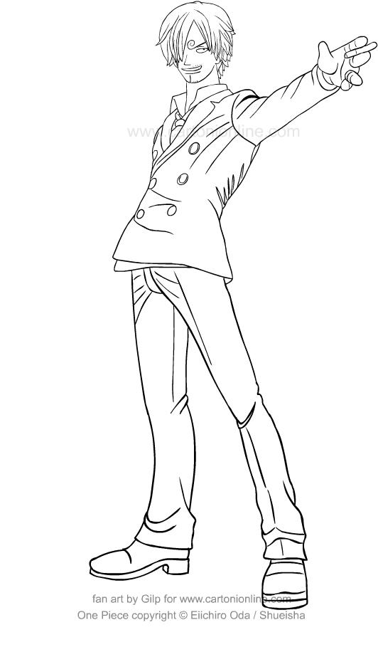 Tranh tô màu Sanji cực đẹp