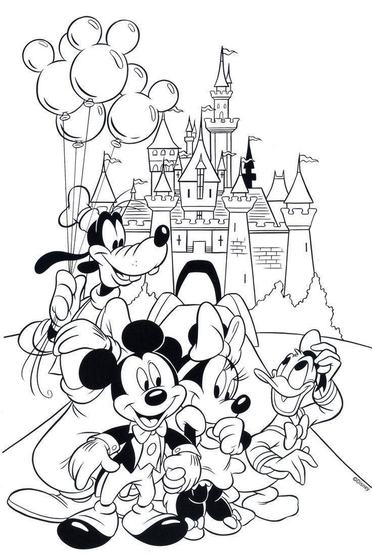 Tranh tô màu vương quốc chuột Mickey