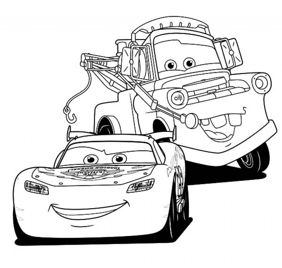 Tranh tô màu xe ô tô cho bé