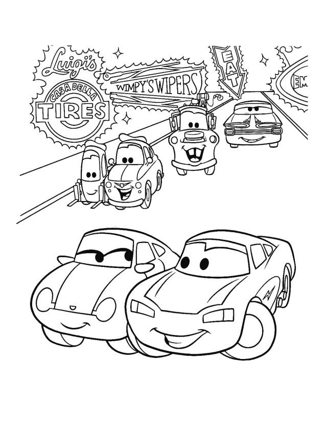 Tranh tô màu xe ô tô cho trẻ cực đẹp