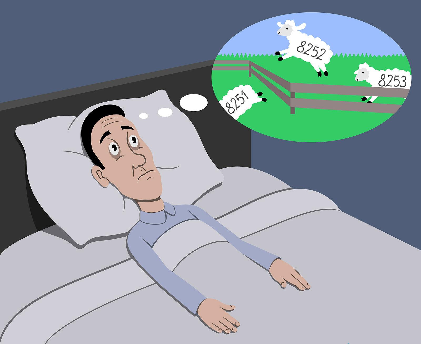 Tranh vẽ đếm cừu khó ngủ